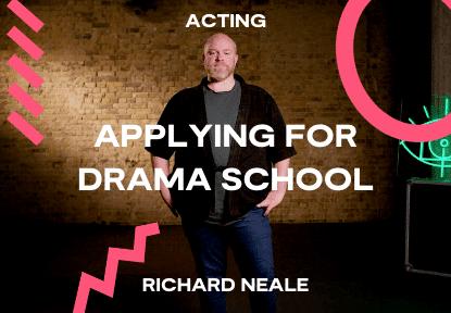 applying for drama school course
